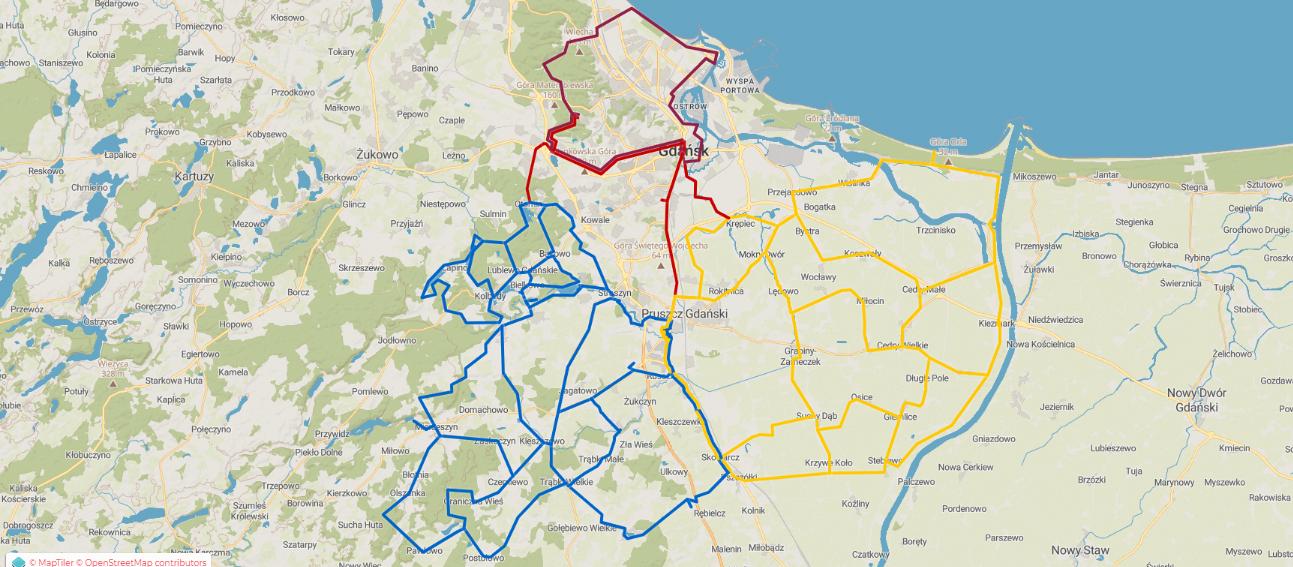 Trasy, szlaki rowerowe wokół Gdańska i okolic